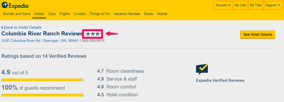 Peniel Ranch 3-star review from Expedia