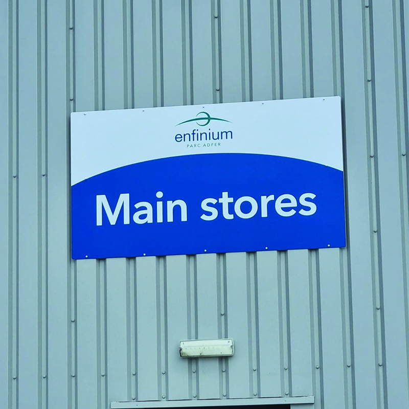 Main Stores Sign