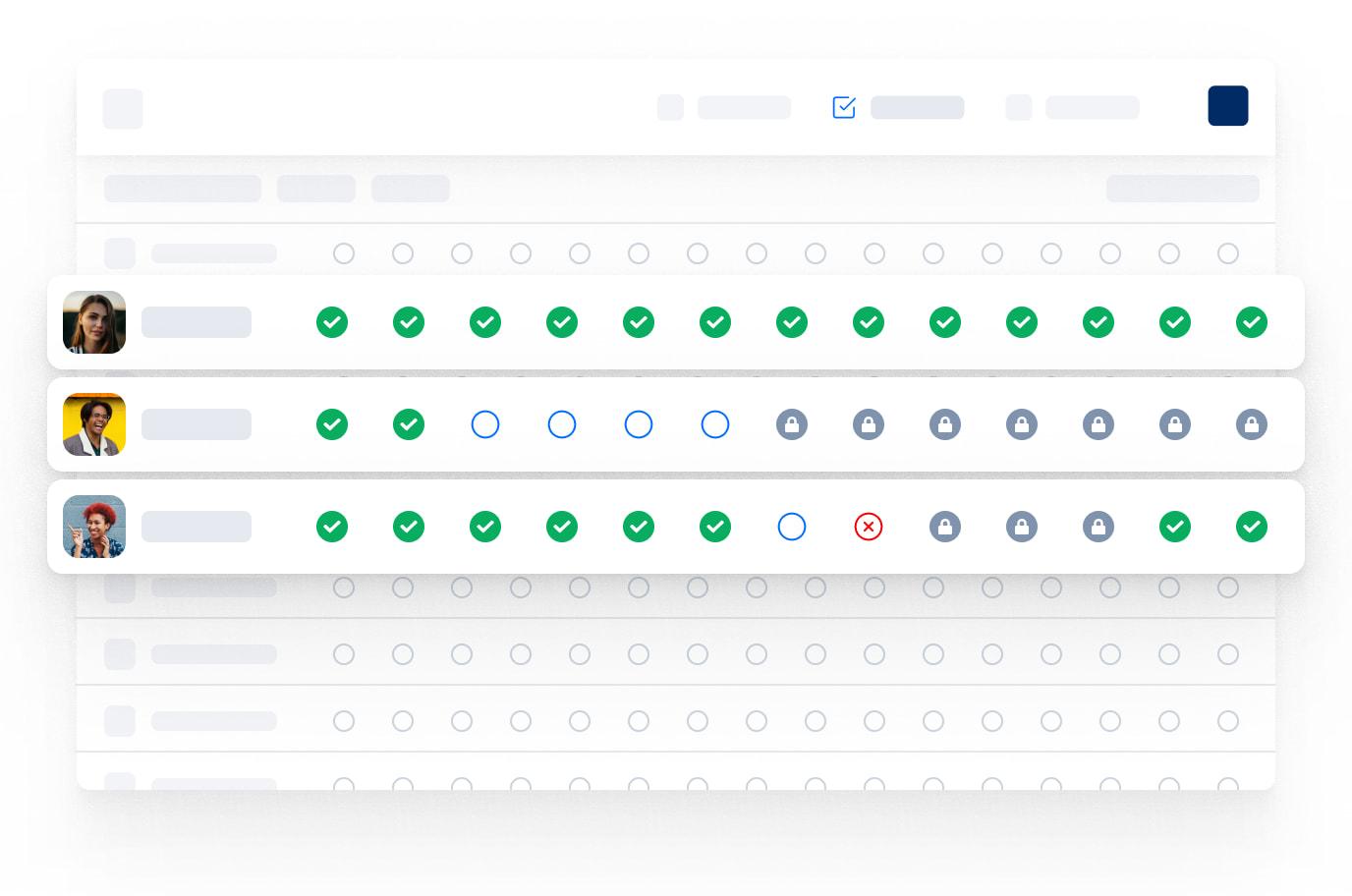 Summary interface from Eduflow