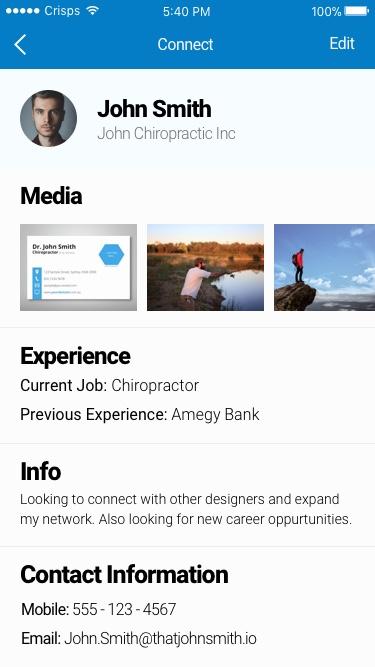 create your profile