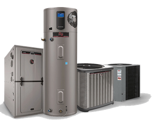 ruud hvac water heating and treatment boiler furnace water heater