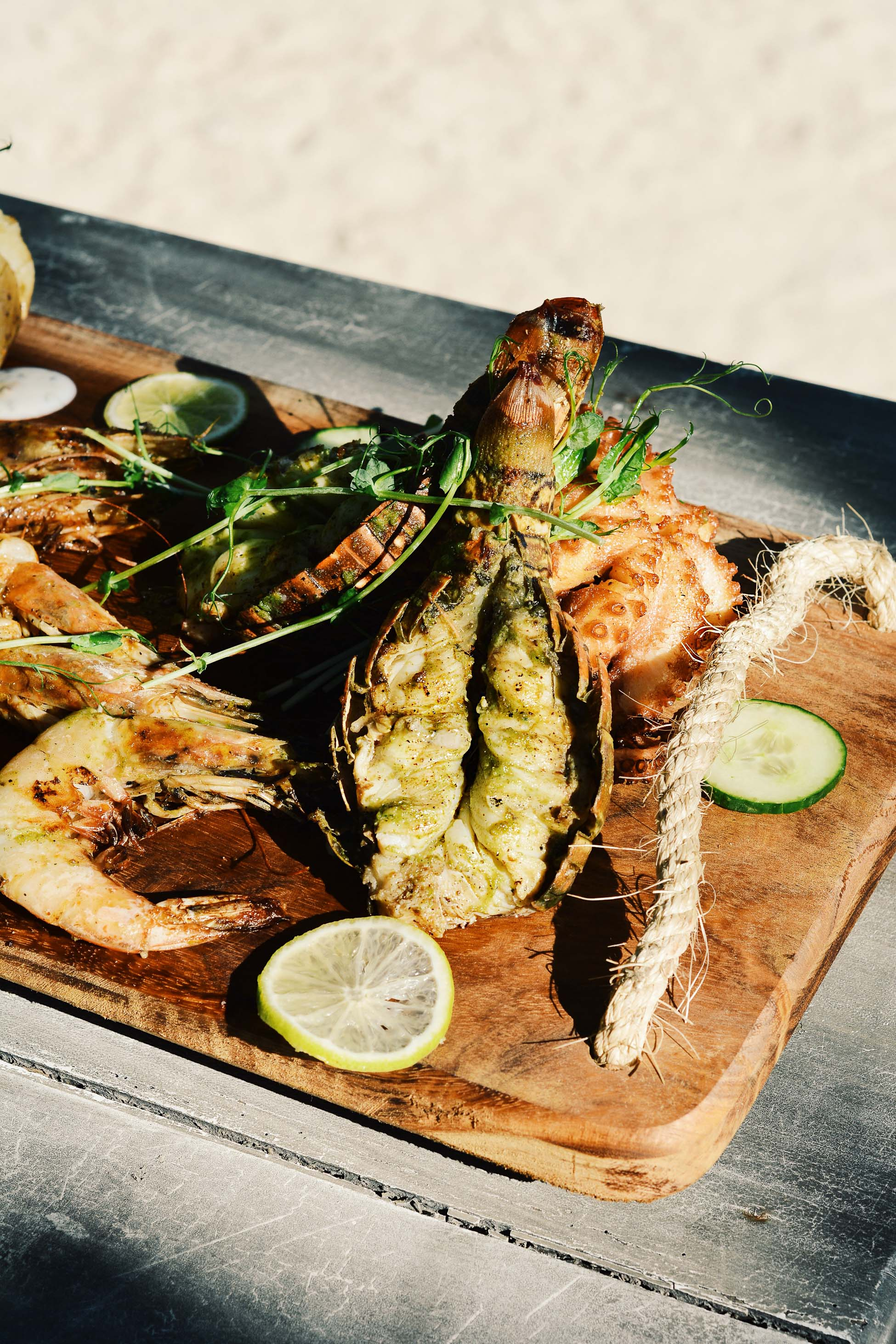 Seafood by the beach