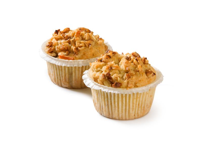 Muffin carrot walnut