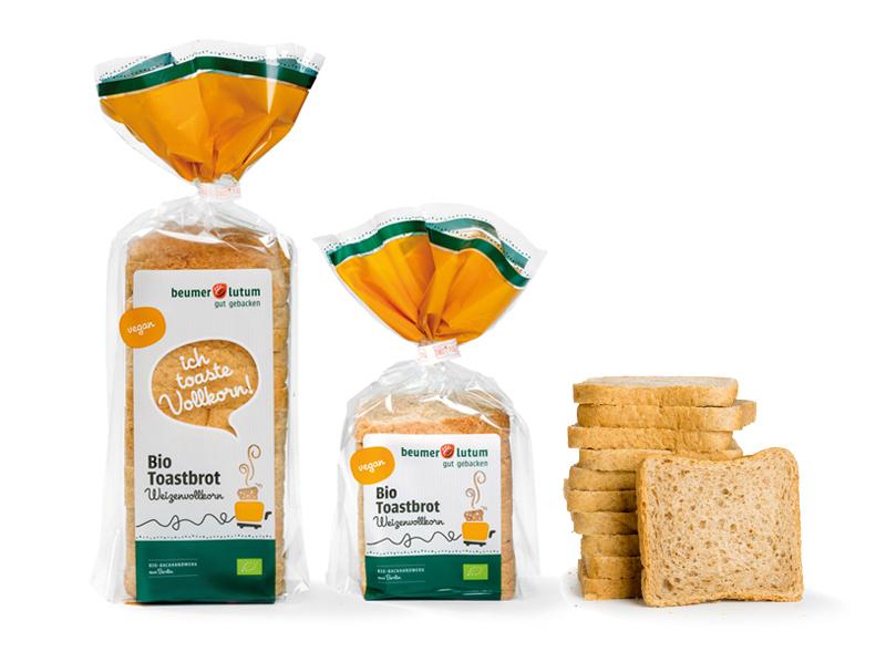Bio Toastbrot  Weizenvollkorn