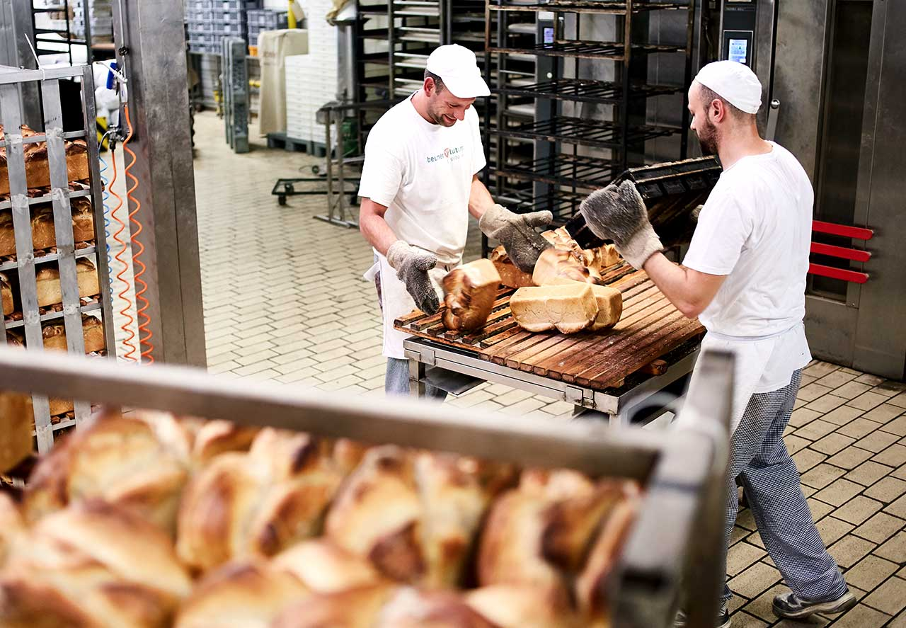 Produktion Schweizer Brote