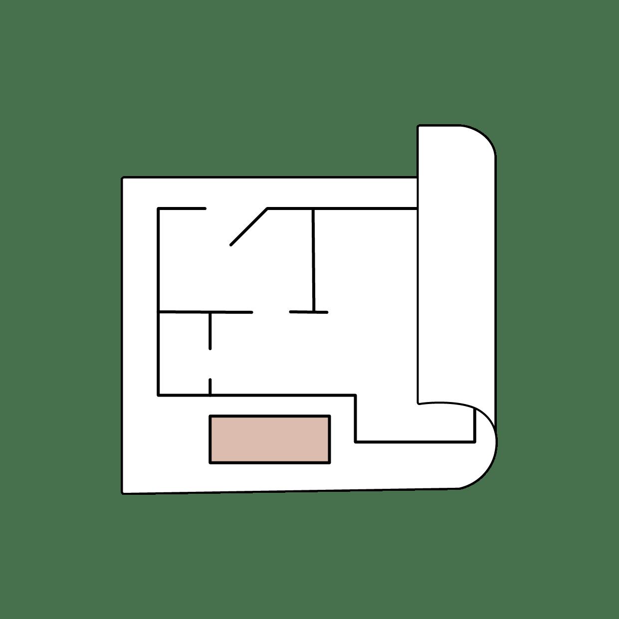 Illustrasjon plantegning / KASPARA Boligstyling & Interiør