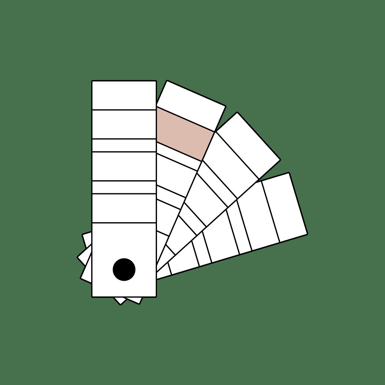 Illustrasjon fargevifte / KASPARA Boligstyling & Interiør
