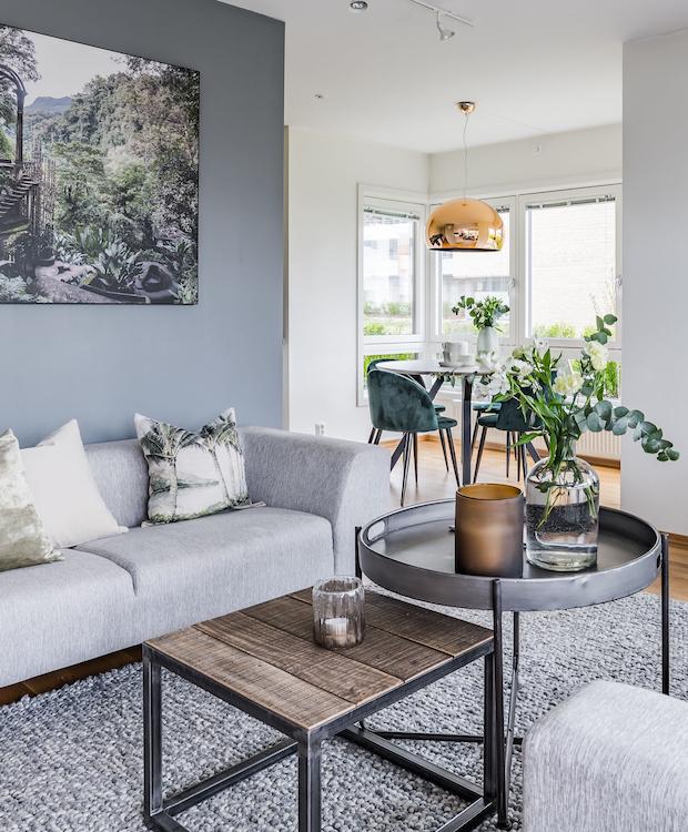 Utsnitt av stue / boligstyling utført av KASPARA