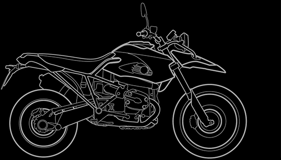 Illustration of a BMW HP2 Enduro