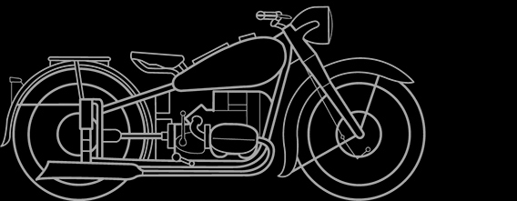 Illustration of a BMW R 51, R 66