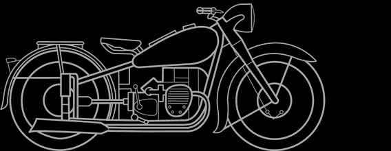 Illustration of a BMW R 61, R 71