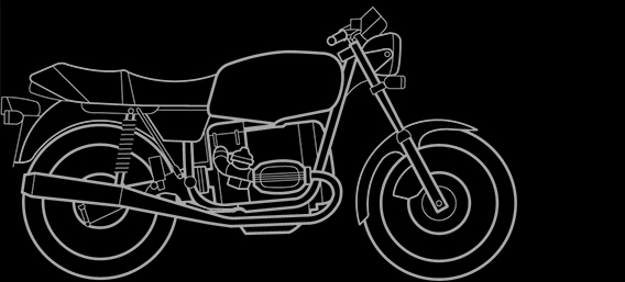 Illustration of a BMW R 45, R 65