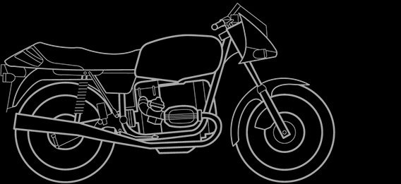 Illustration of a BMW R 65 LS