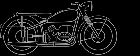 Illustration of a BMW R 68