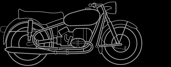 Illustration of a BMW R 69, R 50 S, R 69 S