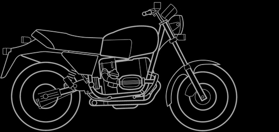 Illustration of a BMW R 80 ST