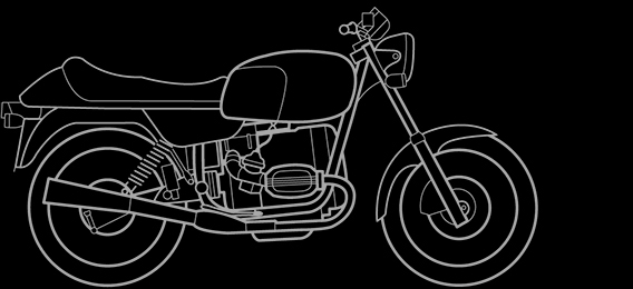 Illustration of a BMW R 80, R 65