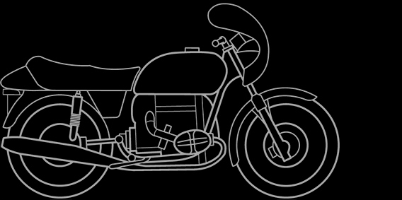 Illustration of a BMW R 90 S, R 100 S, R 100 CS