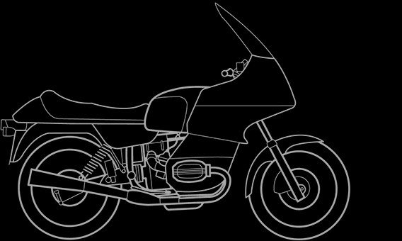 Illustration of a BMW R 80 RT, R 100 RT