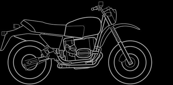 Illustration of a BMW R 80 GS, R 80 Basic, R 65 GS