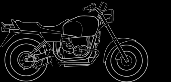 Illustration of a BMW R 80 R, R 100 R
