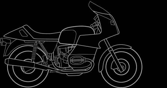 Illustration of a BMW R 100 RS