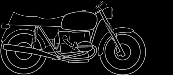 Illustration of a BMW R 60/6, R 60/7, R75/6, R 80/7, R 100/7, R 100, R 75/7, R 90/6, R 100 T