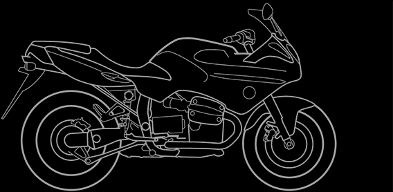 Illustration of a BMW R 1100 S