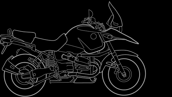 Illustration of a BMW R 1150 GS