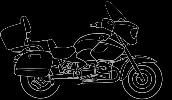 Illustration of a BMW R 1200 CL