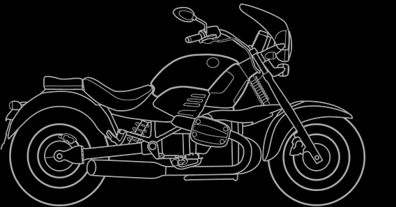 Illustration of a BMW R 1200 C Montauk