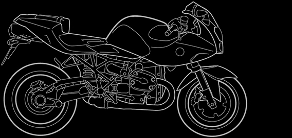 Illustration of a BMW R 1200 S