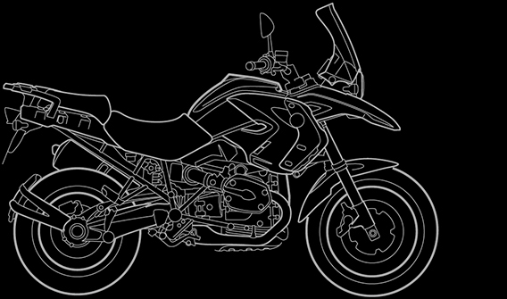 Illustration of a BMW R 1200 GS