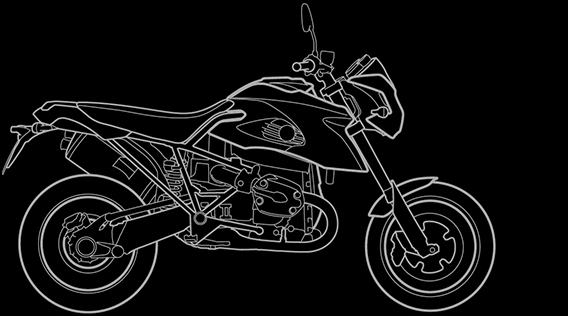 Illustration of a BMW HP2 Megamoto