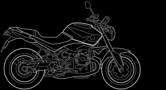 Illustration of a BMW R 1200 R