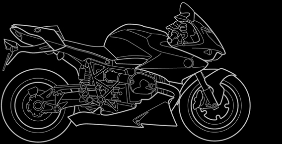 Illustration of a BMW HP2 Sport