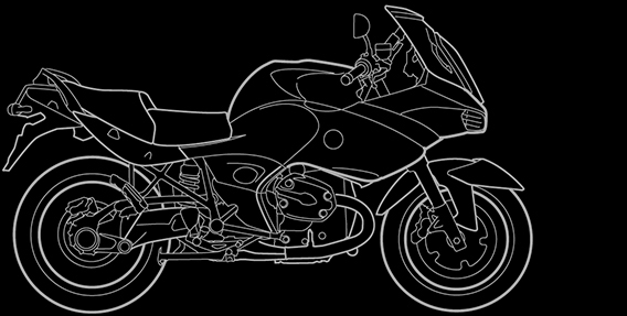 Illustration of a BMW R 1200 ST