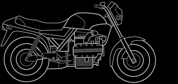 Illustration of a BMW K 100