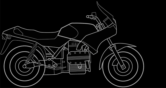 Illustration of a BMW K 75 S