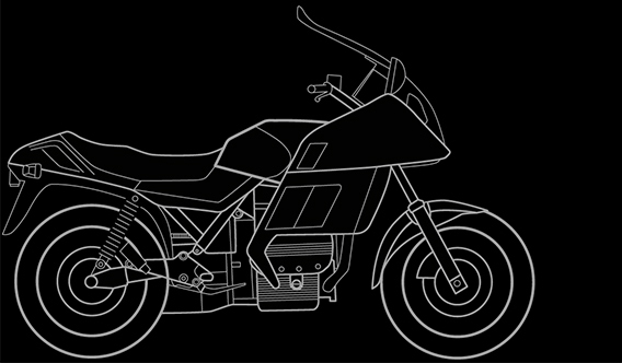 Illustration of a BMW K 75 RT