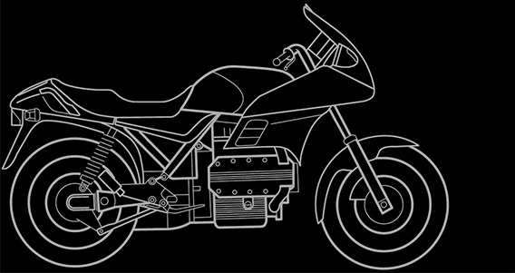 Illustration of a BMW K 100 RS