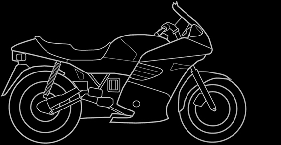 Illustration of a BMW K 1100 RS