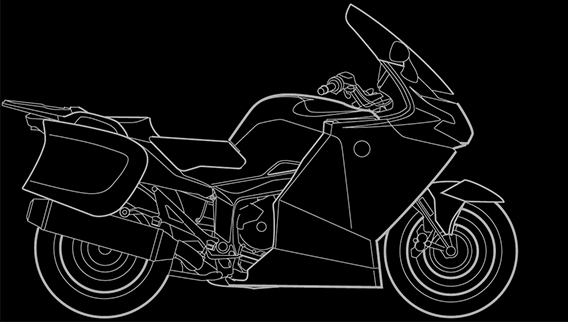 Illustration of a BMW K 1200 GT