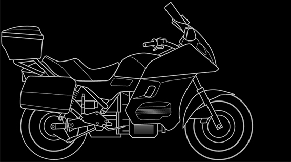 Illustration of a BMW K 1100 LT