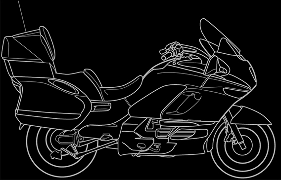 Illustration of a BMW K 1200 LT
