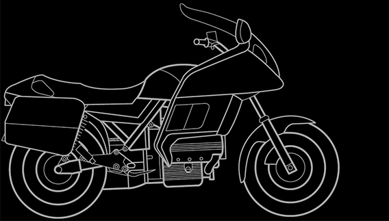 Illustration of a BMW K 100 RT, K 100 LT