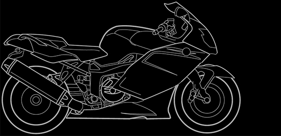 Illustration of a BMW K 1200 S