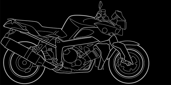 Illustration of a BMW K 1200 R