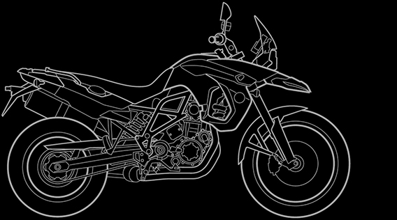 Illustration of a BMW F 800 GS