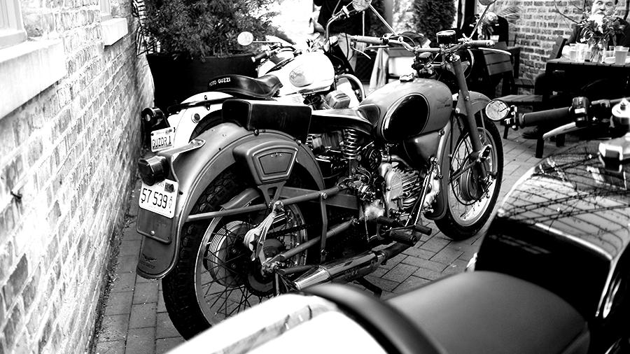 Photo of a vintage Moto Guzzi